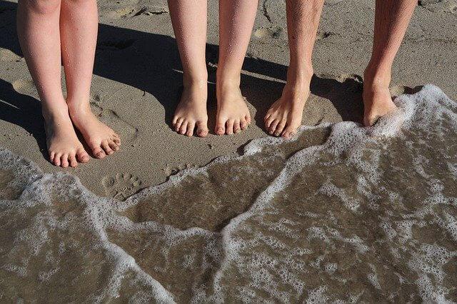 Füße Strand Familie