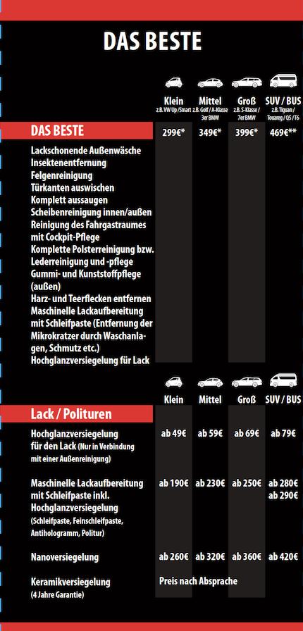 Preisliste
