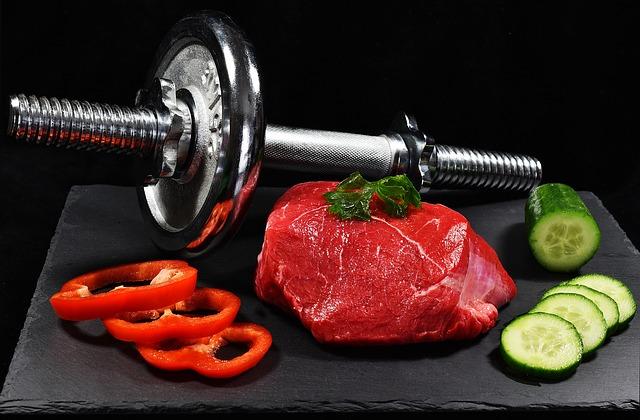 Fleisch und Ernährung für effektives Training