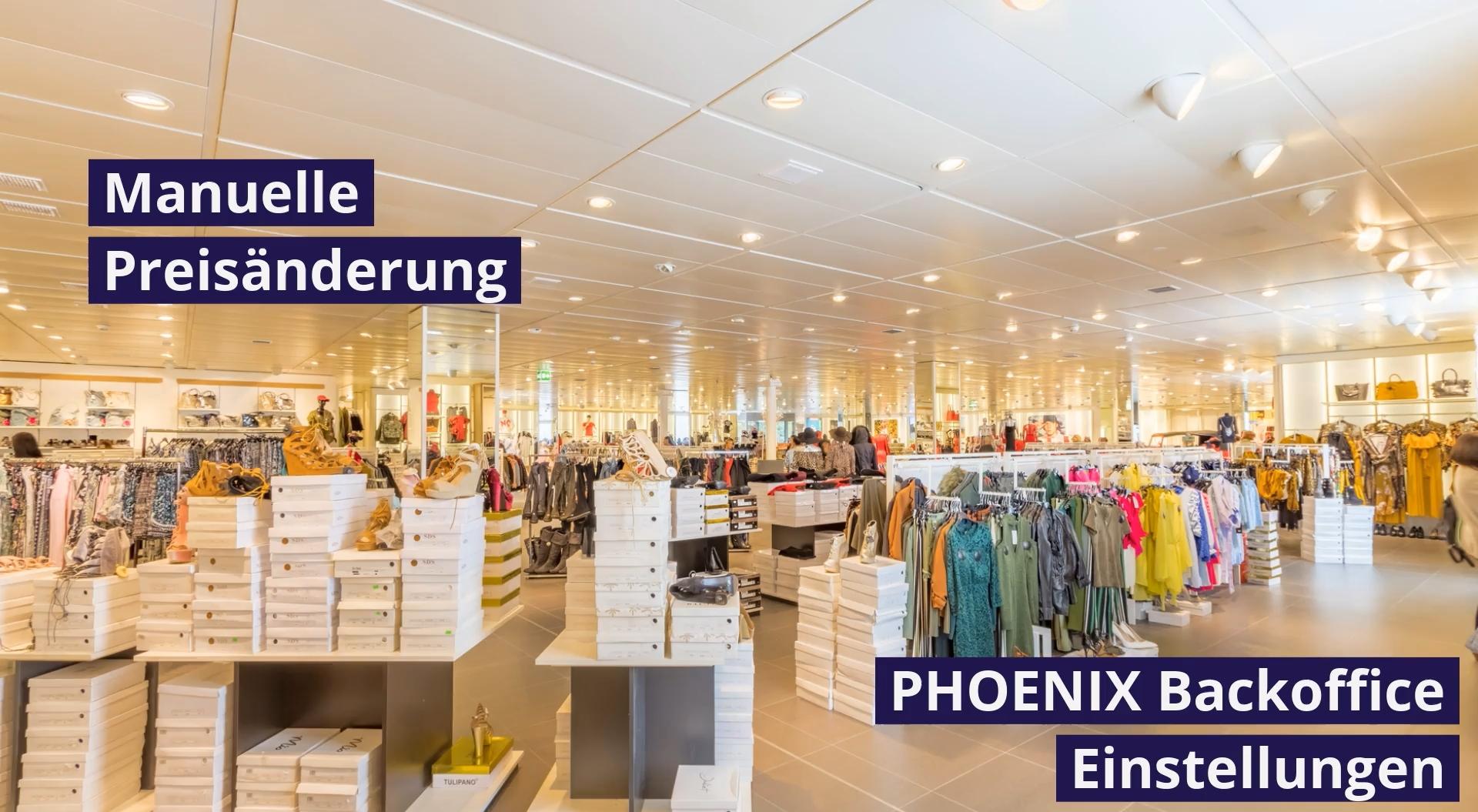 PHOENIX Feature - Manuelle Preisänderung