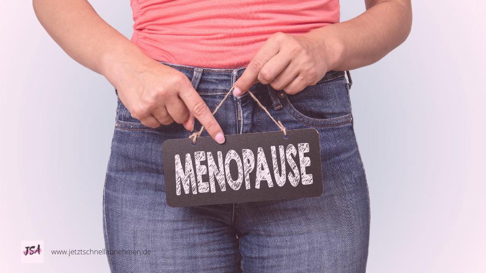 Frau in Menopause