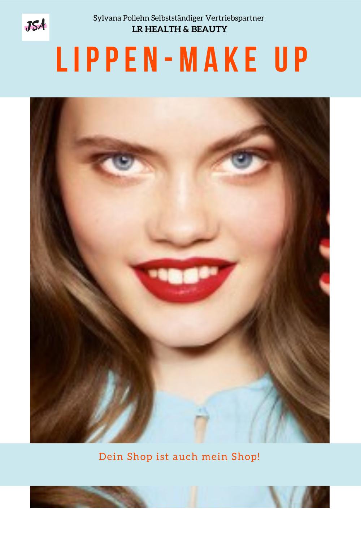 Frau mit Lippen Make up
