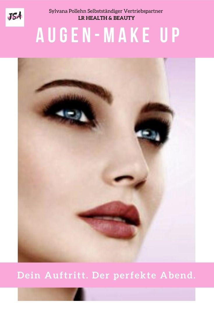 Frau mit Augen Make up