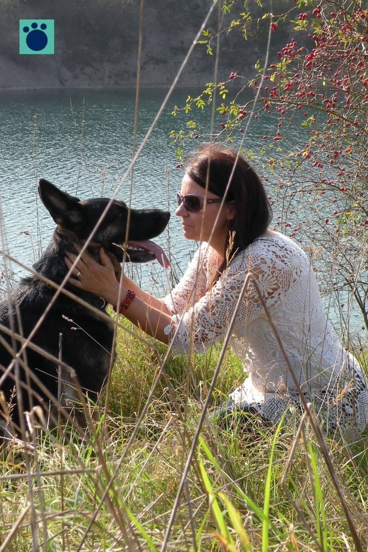 Schäferhund und Frauchen