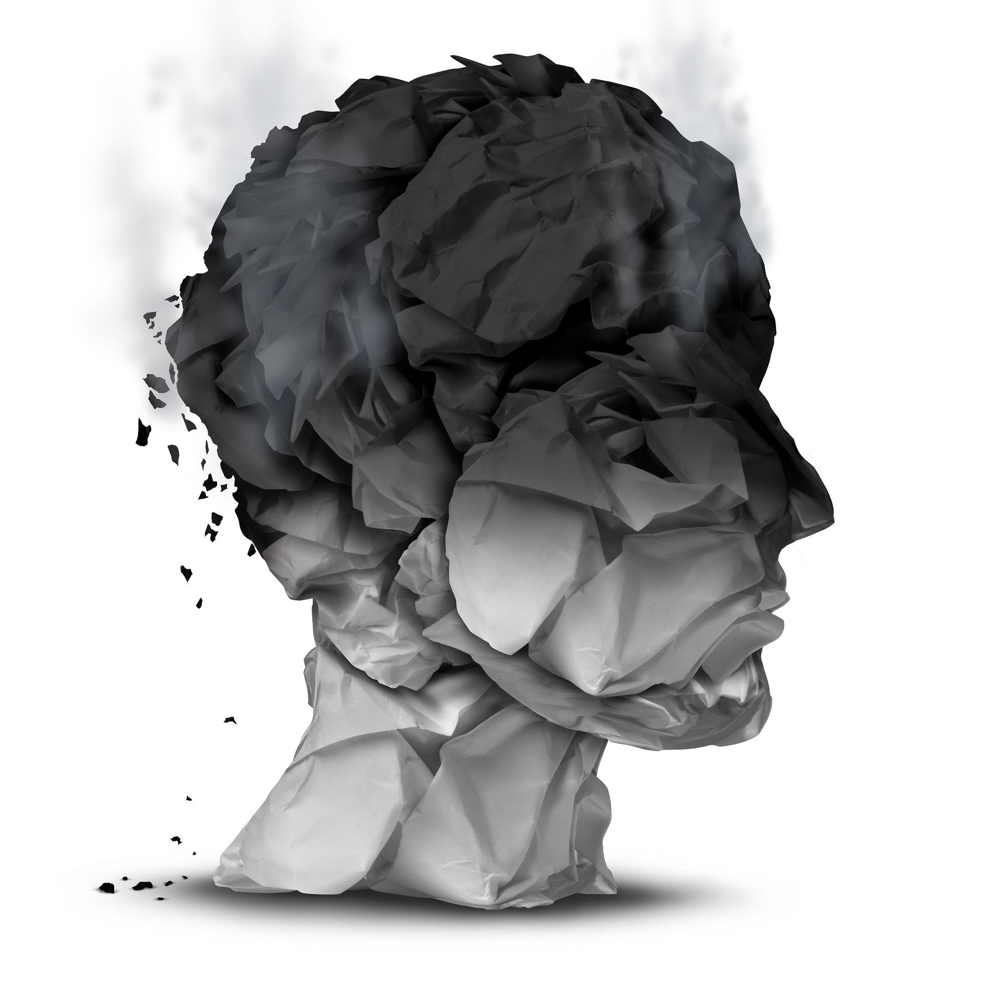 Mensch mit Burnout