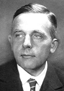 Ein Bild von Otto Warburg, ein Forscher der daran gearbeitet hat Krebs zu heilen.