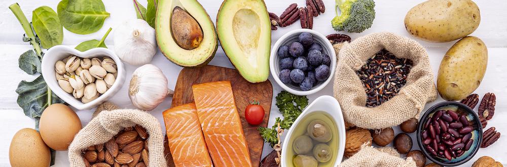 Essen ohne kohlenhydrate draufsicht