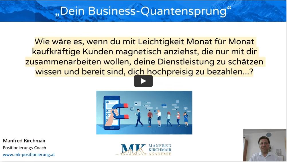 Business Quantensprung-Video