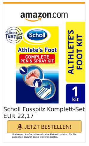 Scholl Fußpilz Creme zum behandeln