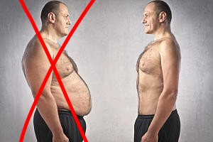 Abnehmen ohne Sport - Vorher Nachher Vergleich Mann