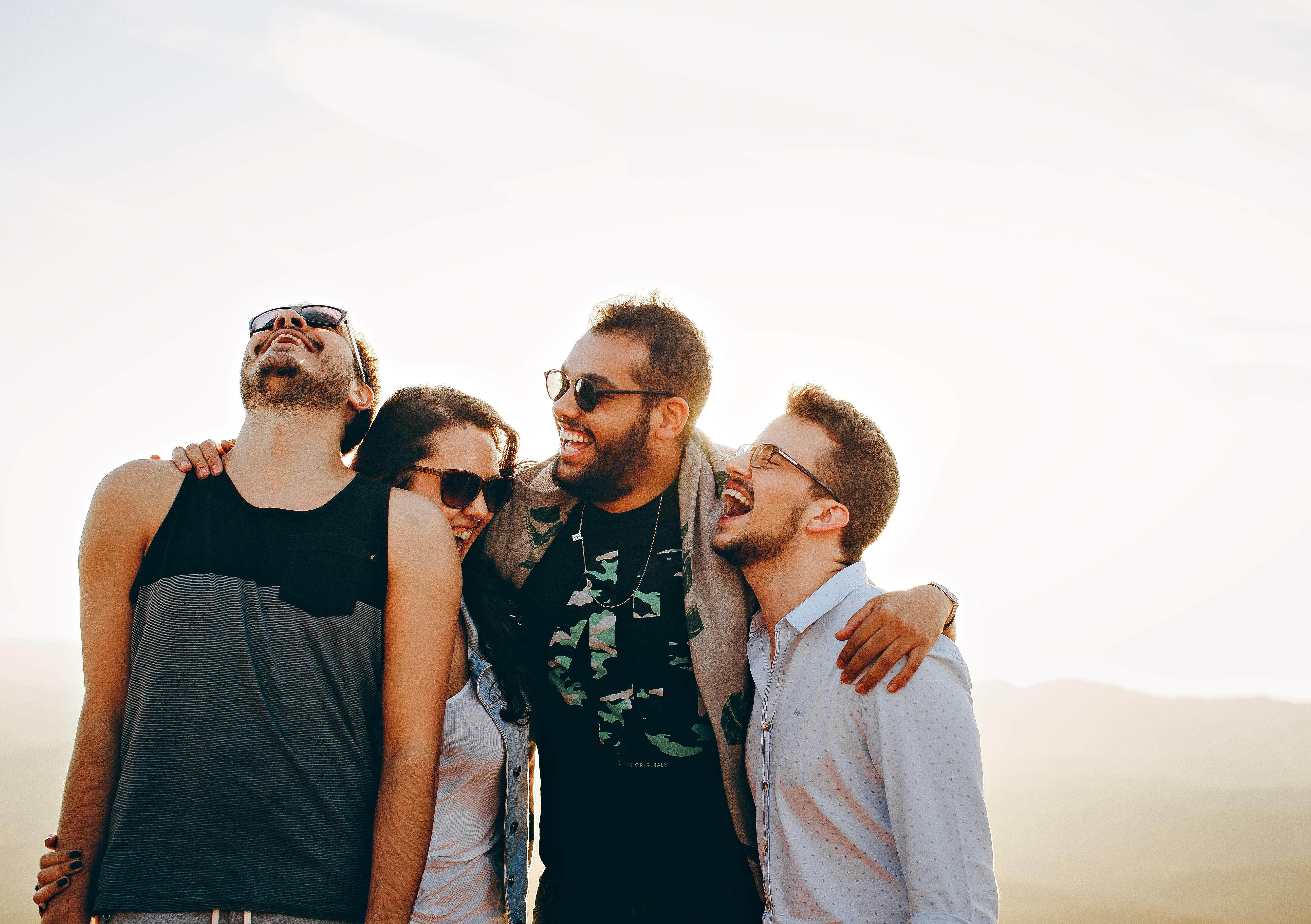 Lachen zwischen Freunde