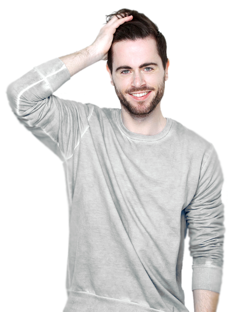 Mann mit vollem Haar