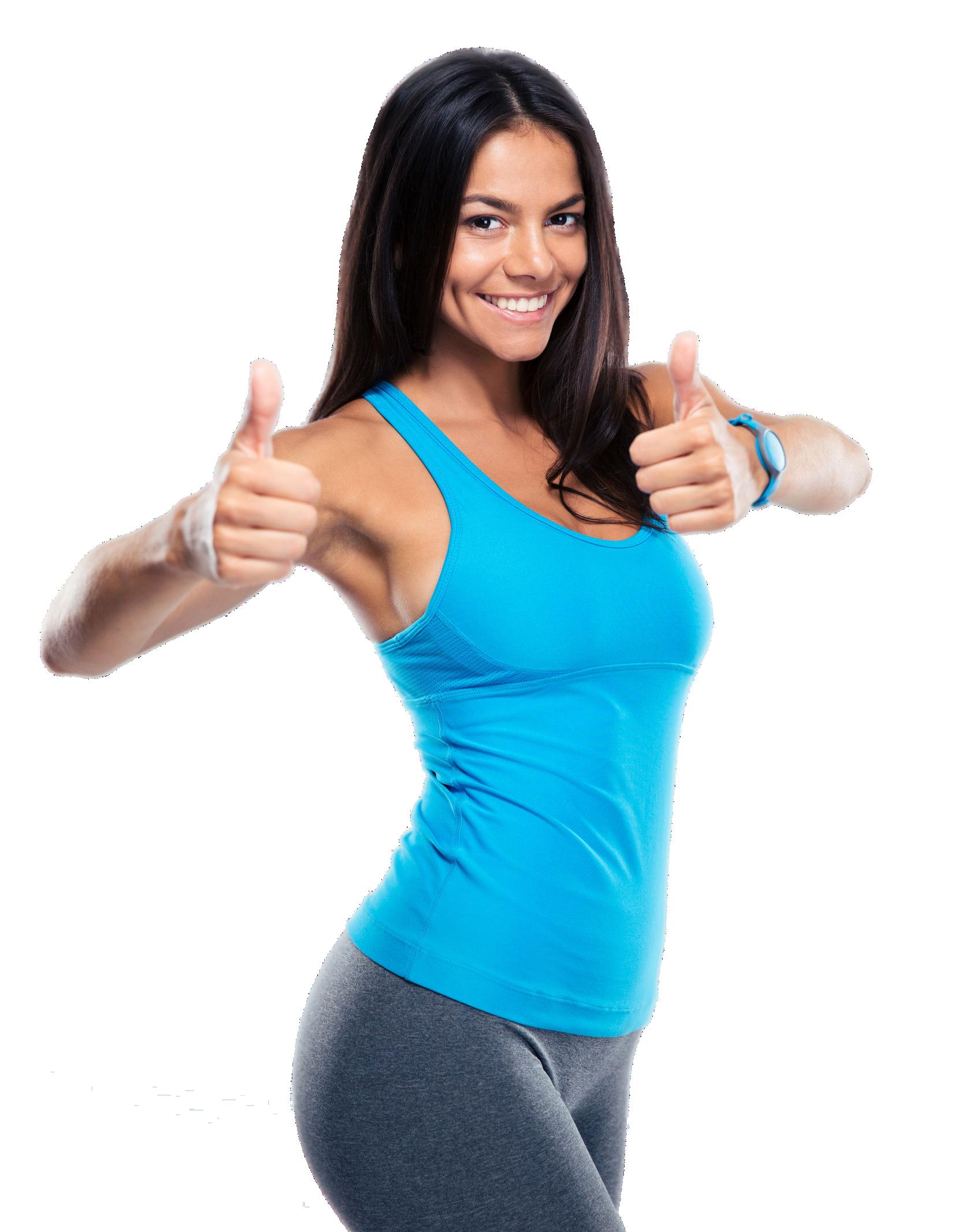 Glückliche Frau durch Yoga