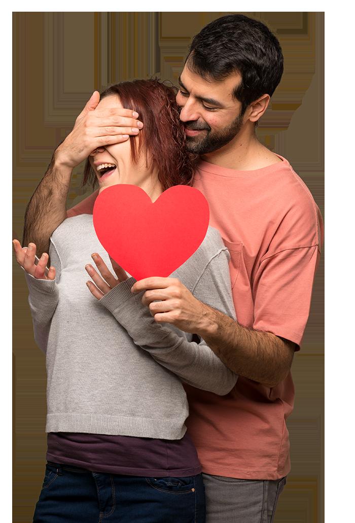 Glückliche liebende Menschen