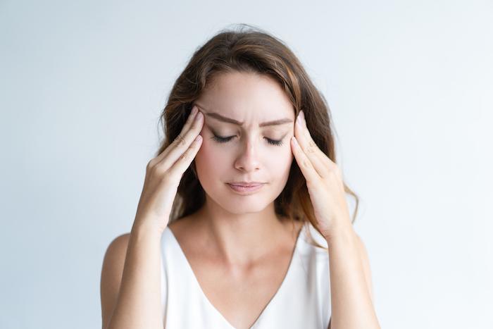 Frau mit extremem Stress