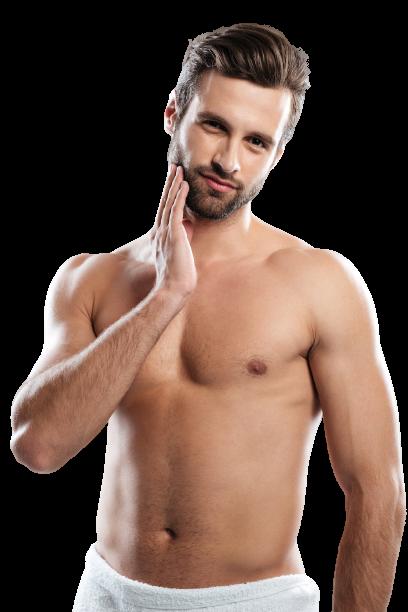 Mann mit gesunder Haut