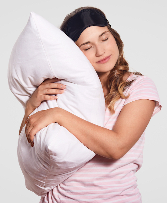 Frau kann ihre Schlafprobleme lösen