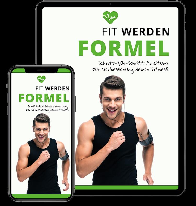 Muskulöser Mann von Muskelaufbau-Programm
