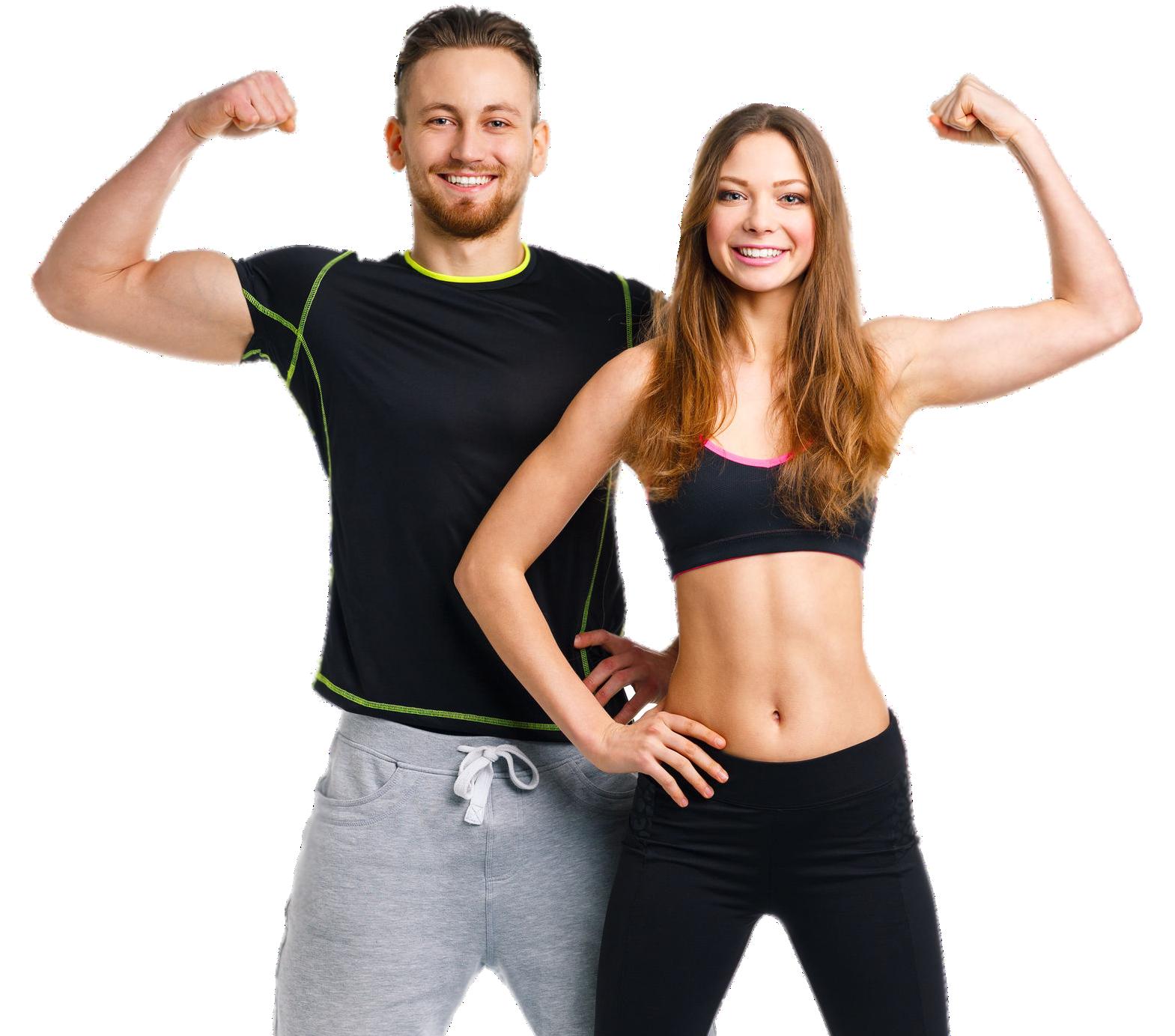 Glückliches Fitness Paar