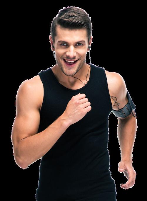 Mann beim joggen macht Fitness