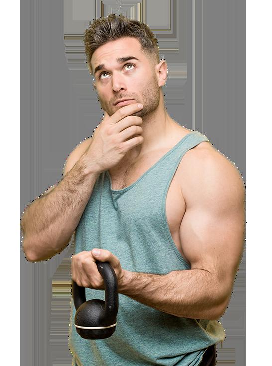 Mann mit Muskeln, Training