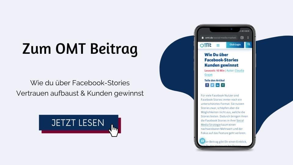 OMT Magazin - Wie Du über Facebook-Stories Kunden gewinnst