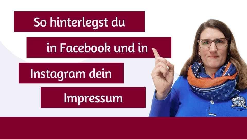 [ZDO] Wie hinterlege ich ein Impressum auf Facebook und Instagram