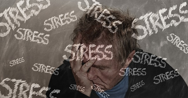 Mann ist gestresst