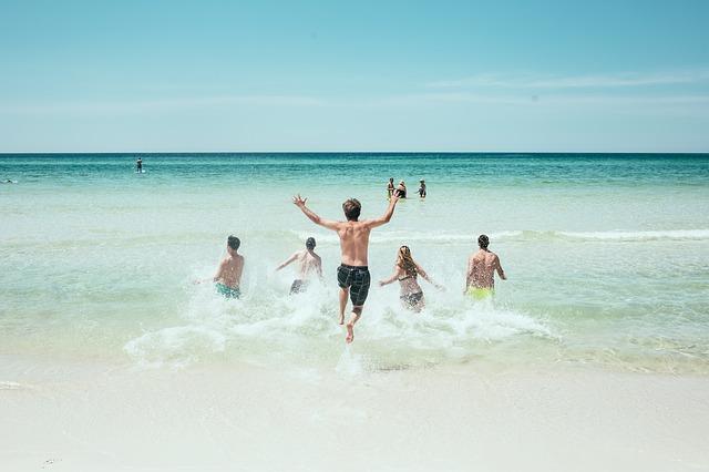 Bewegung am Meer