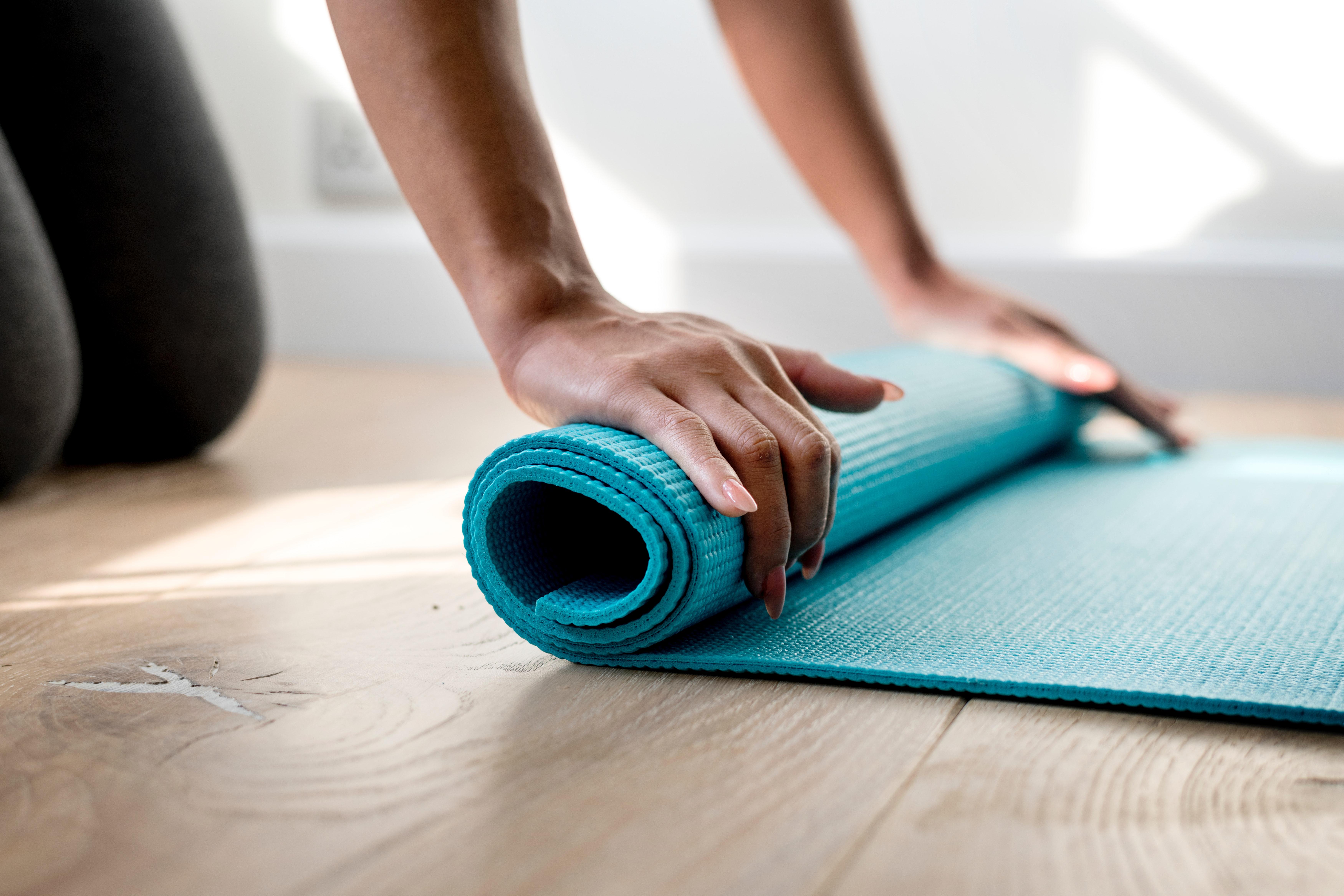Yogamatte als Hilfsmittel