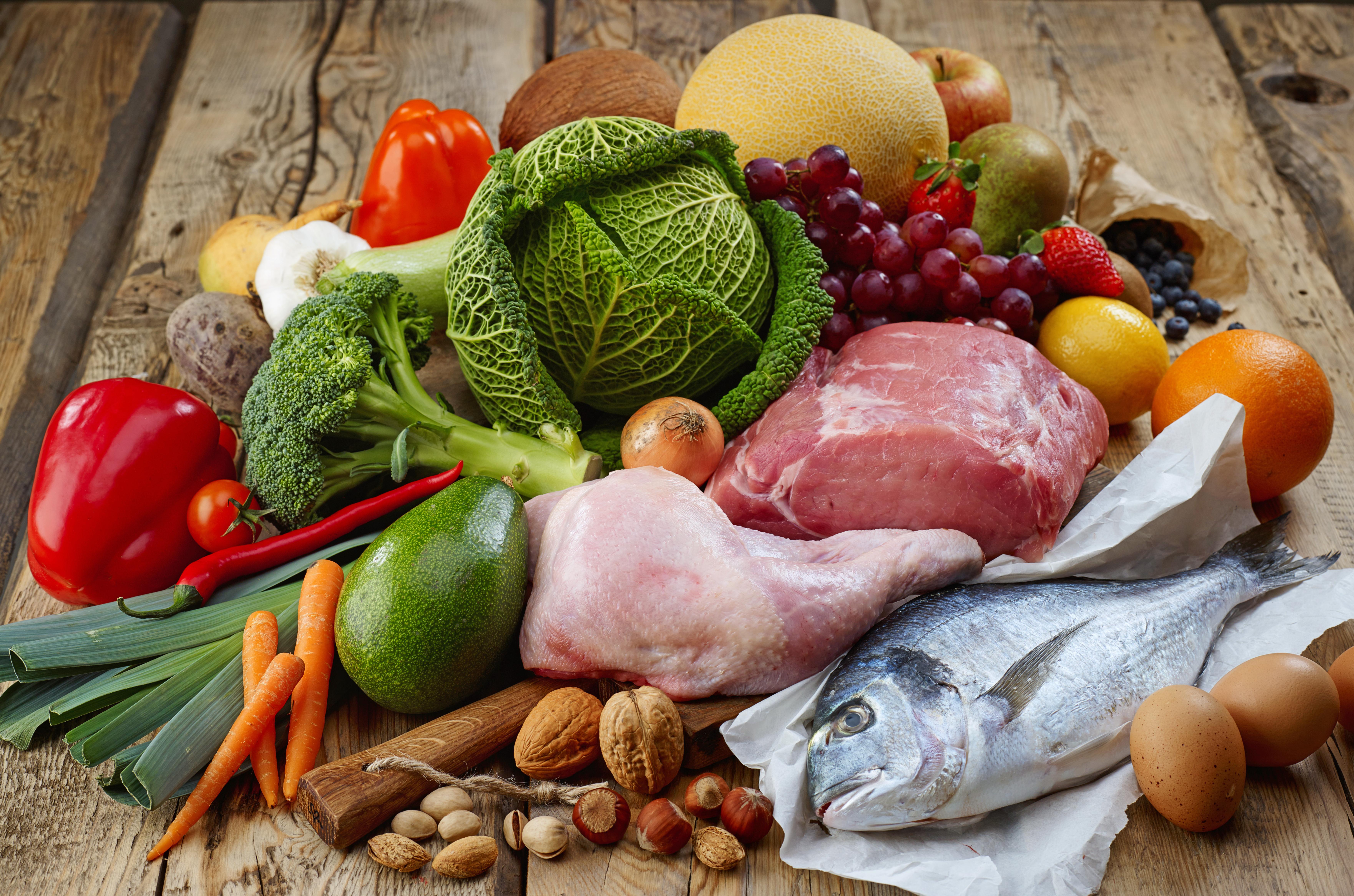 Gesunde Lebensmittel nach Paleo