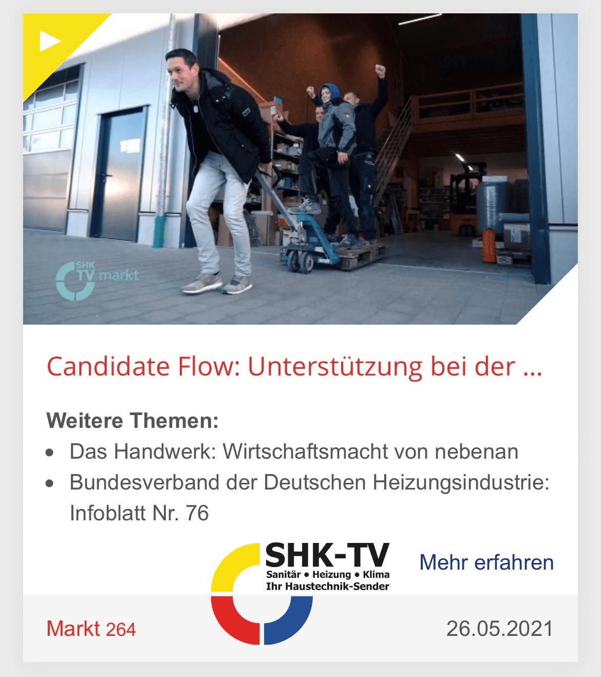SHK TV Interview mit Candidate Flow GmbH