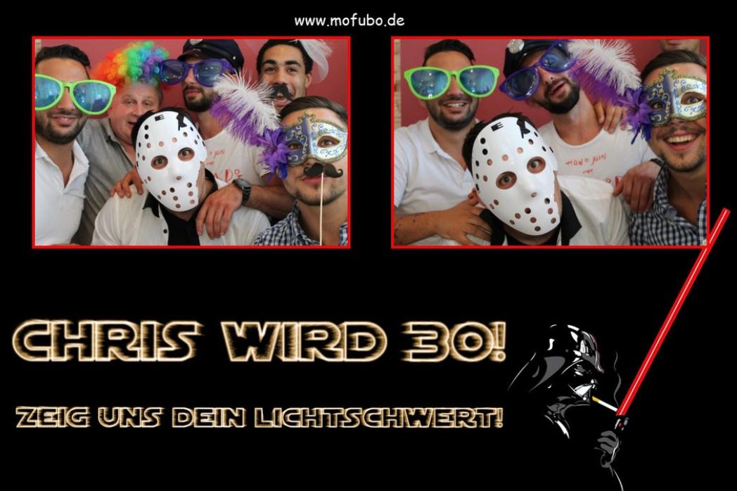 30er Geburtstag Chris mit mofubo.de