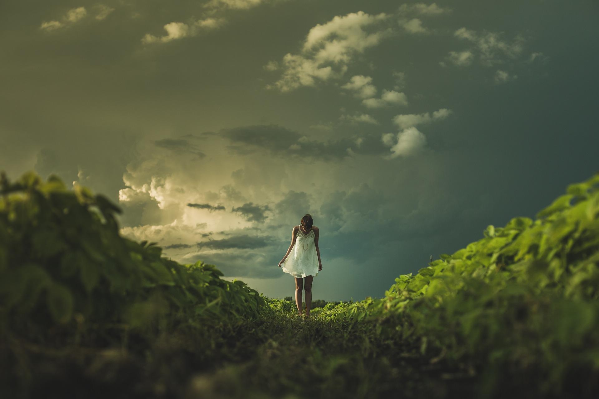 Mädchen-Natur-Freiheit