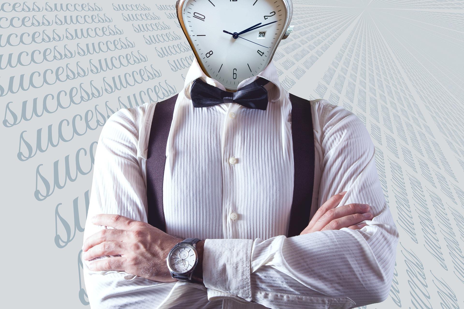 Zeitmanagement-Mann-Uhr