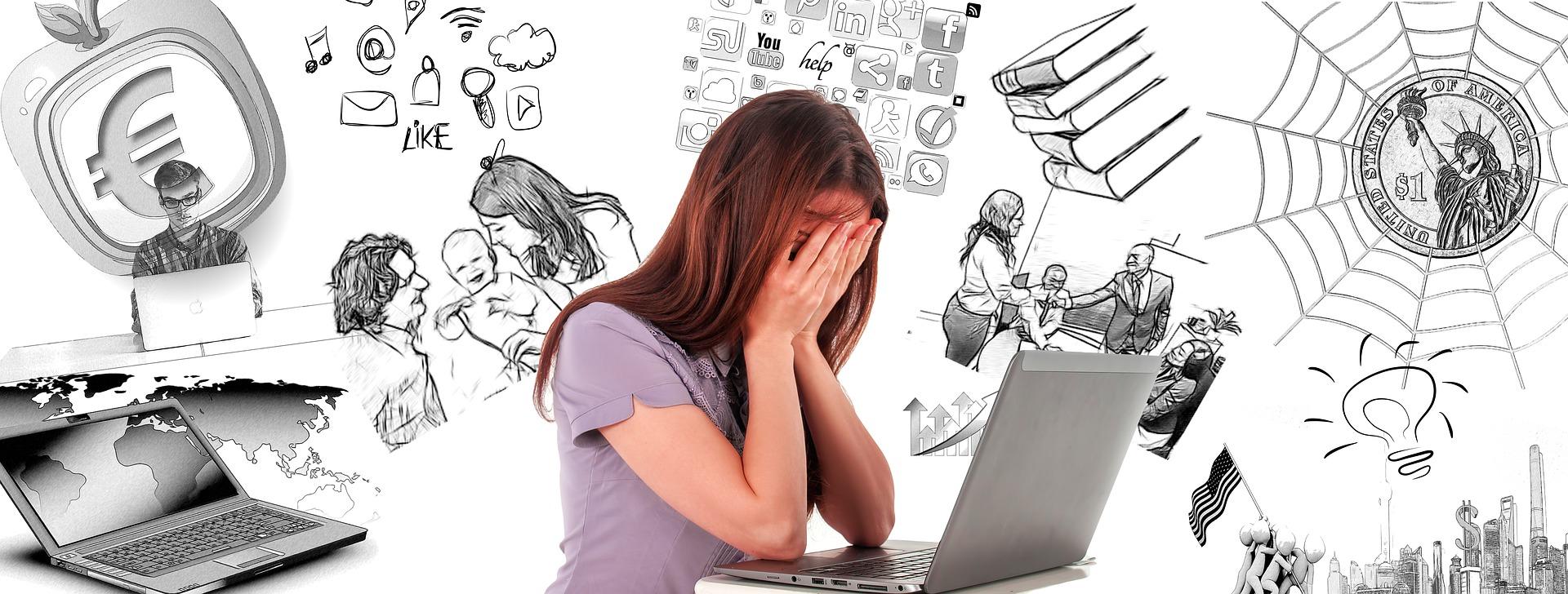 Frau-Stressfaktoren