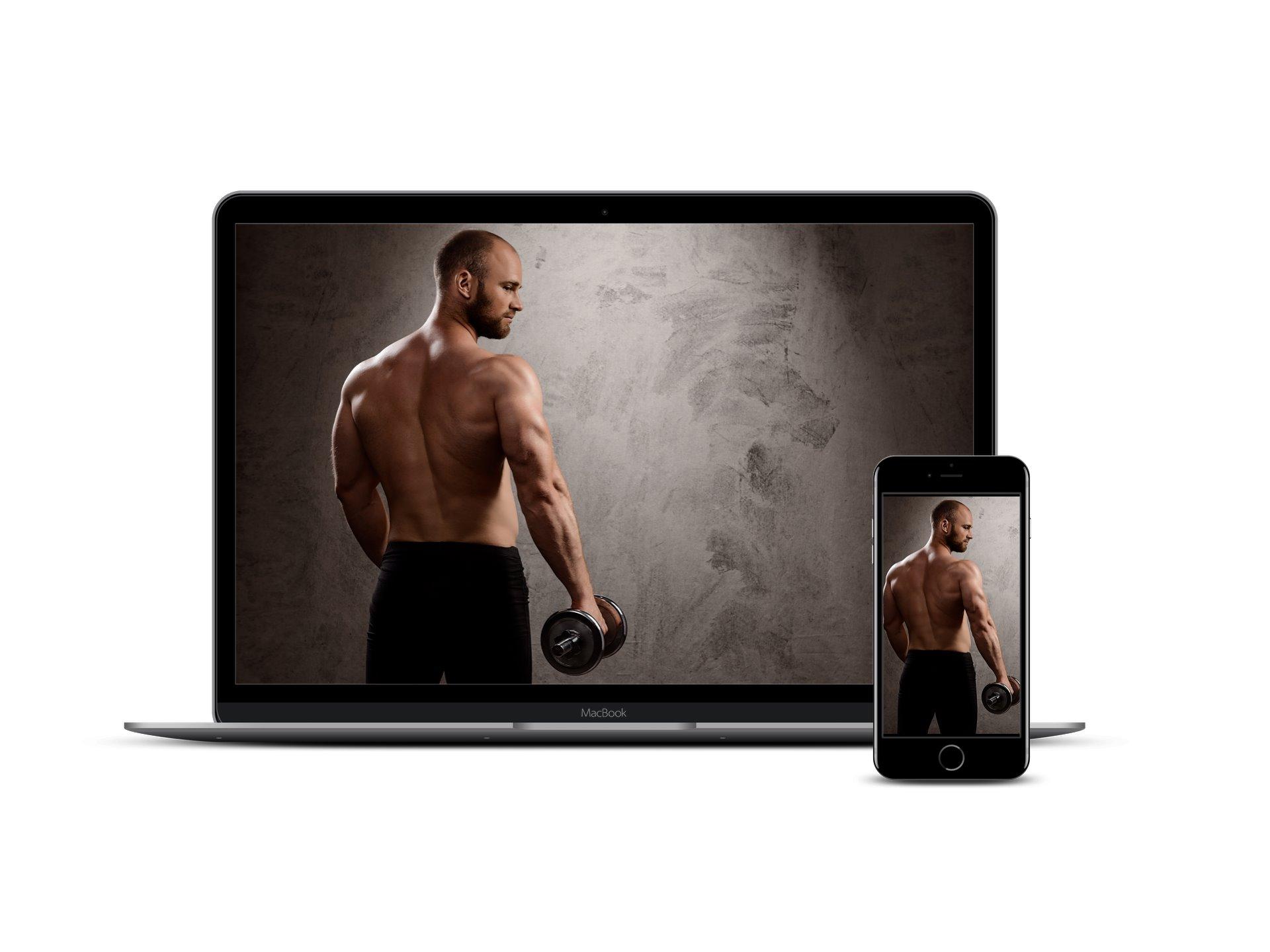 Muskelaufbau Laptop Handy
