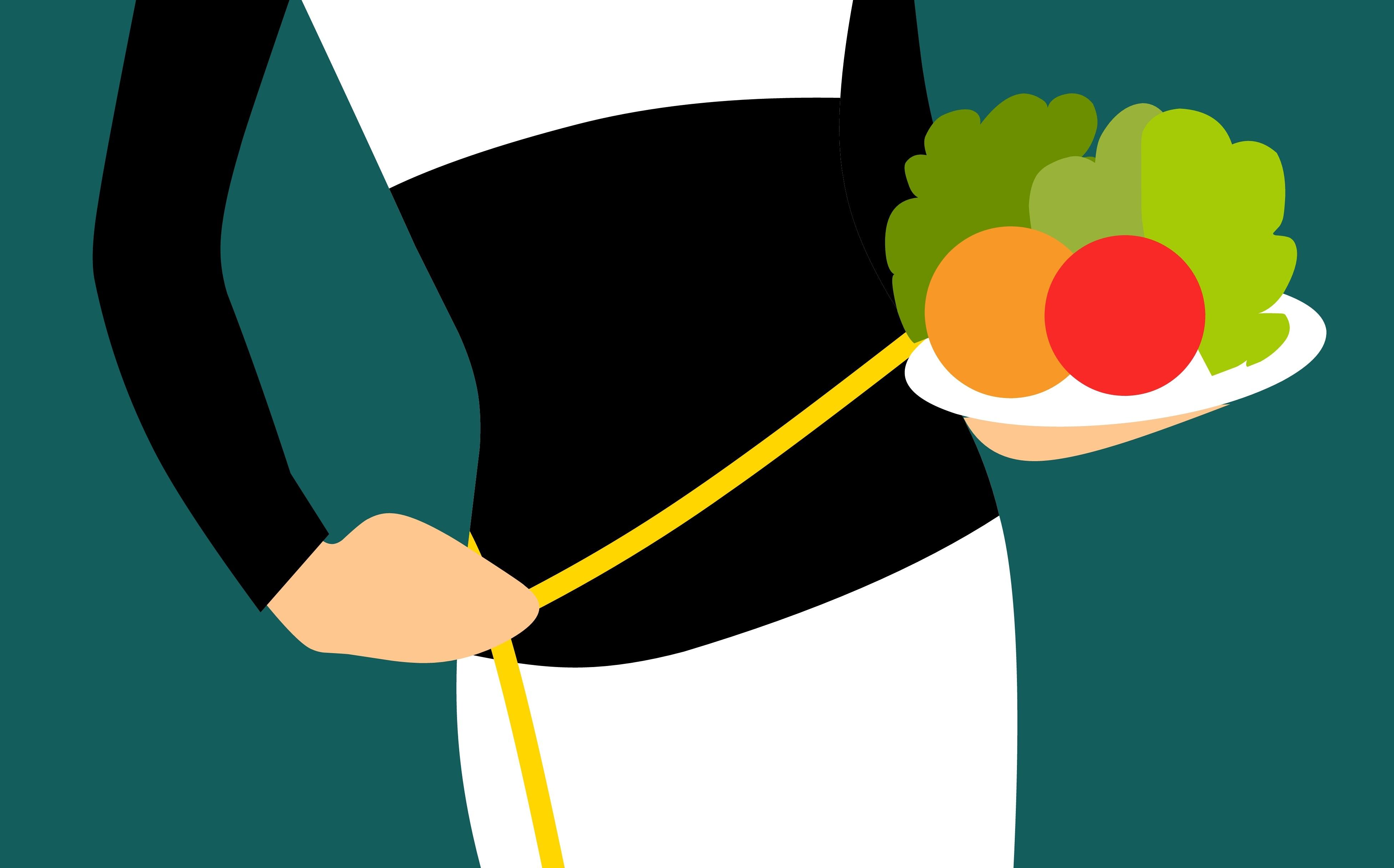 Gesundes Gemüse auf einem Teller - Abnehmen