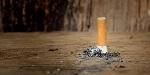 Zigarette wurde ausgedrückt