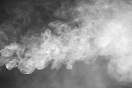 Dampf einer E-Zigarette