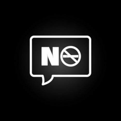 Touch-Icon: Sprechblase mit Rauchverbotszeichen