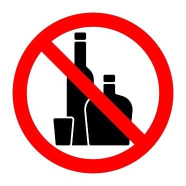 Alkoholverbot-Zeichen