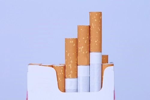 Zigaretten aus der Zigarettenschachtel