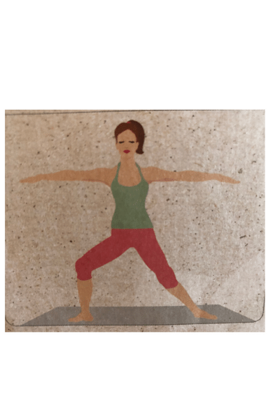 Krieger Yoga Frau