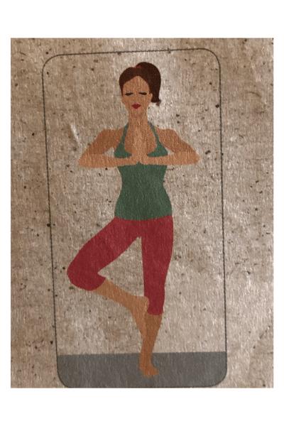 Baum 1 Yoga Frau