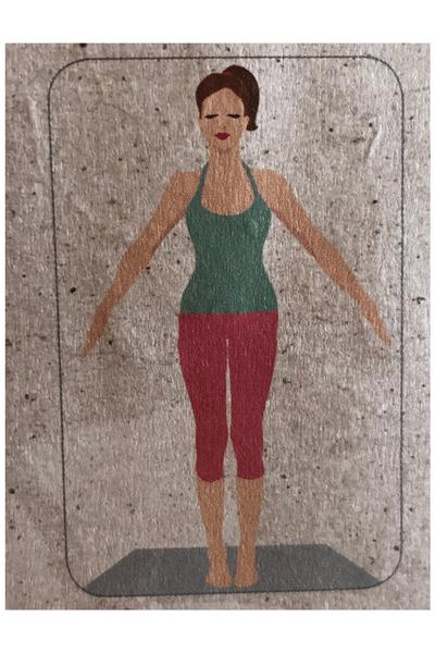 Ausklang Yoga Frau