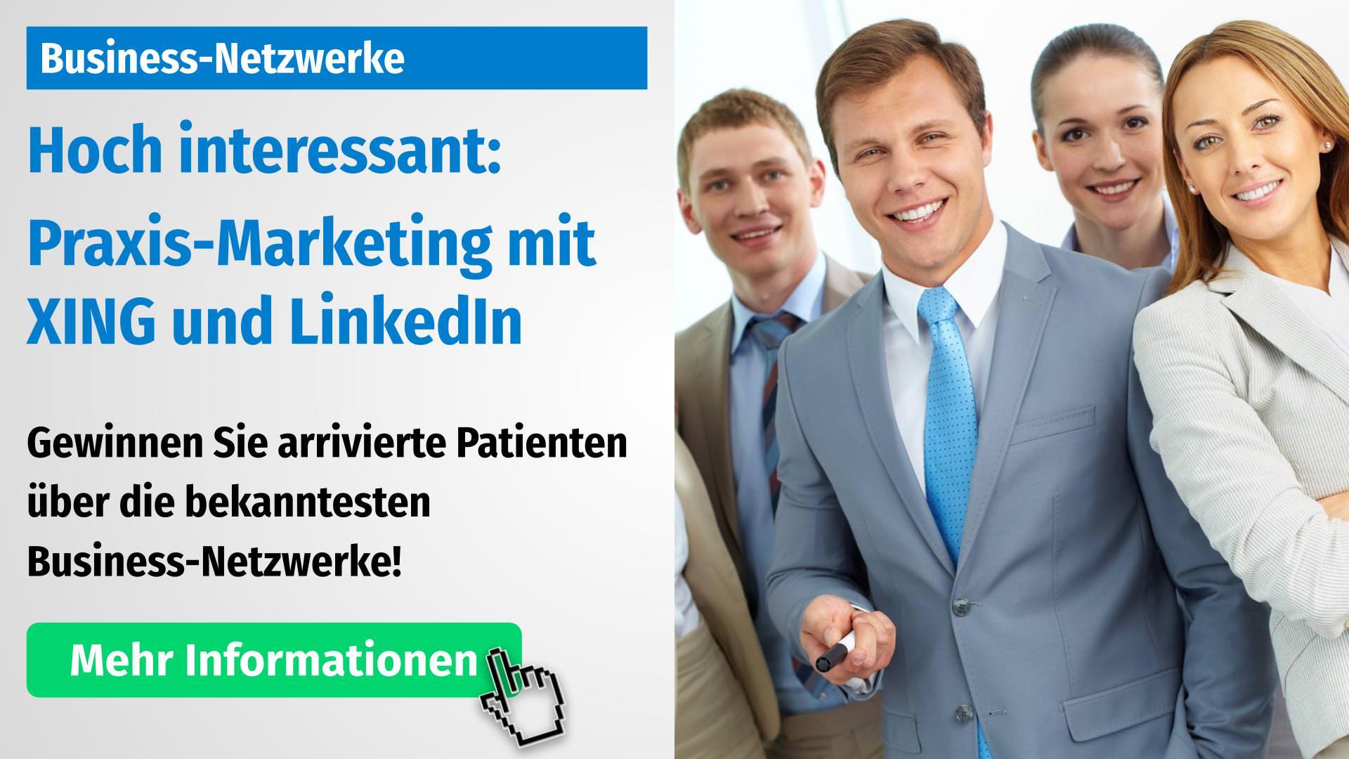 Praxis-Marketing auf Business-Netzwerken wie XING und LinkedIn