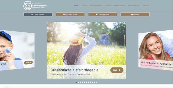 Praxis-Website Kieferorthopädie Dresden