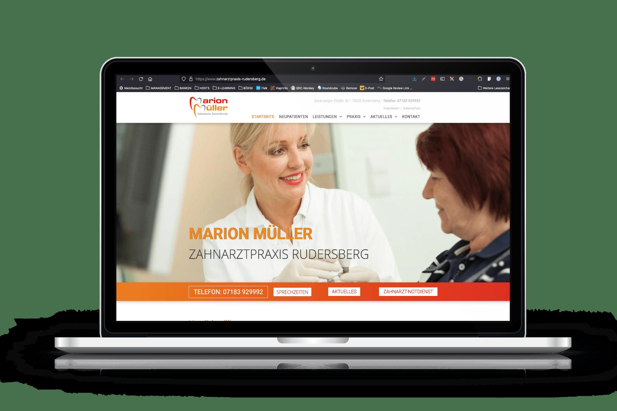 Praxis-Website Zahnarztpraxis Rudersberg