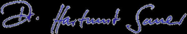 Unterschrift Dr. Hartmut Sauer
